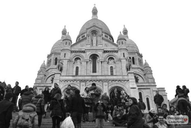 Catedral do Sacre-Coeur em Paris. Foto: Cíntia Costa/ Planejando Meu Casamento.