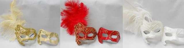Mascáras de carnaval venezianas para noivas e noivos em casamento.