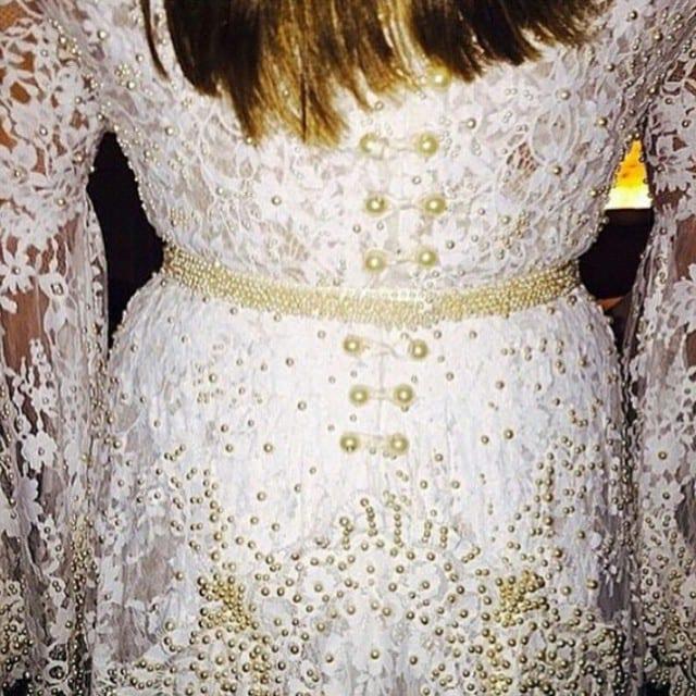 Detalhe do vestido de noiva do casamento de Preta Gil e Rodrigo Godoy.