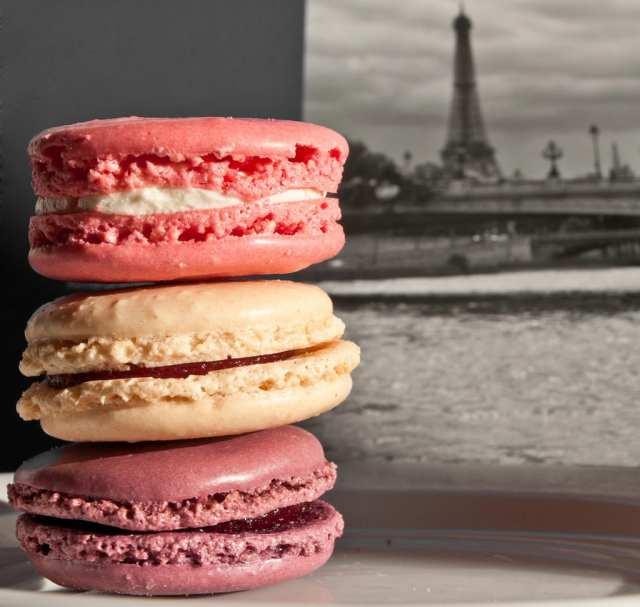 Macarons franceses para casamento.