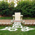 Casamento na Disney: jardim decorado para cerimônia.