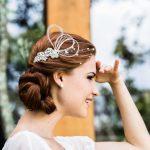 Acessório de cabelo para noivas da D.Cantidio.