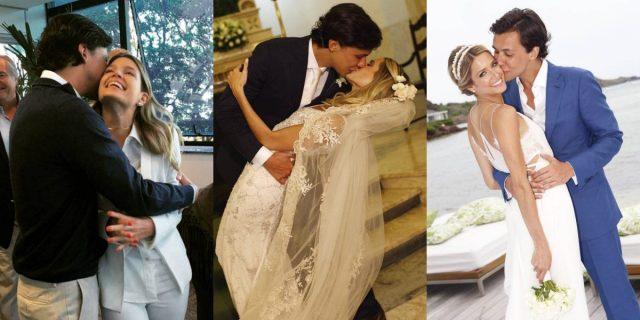 Os três casamentos de Helena Bordon e Humberto Meirelles: no cartório, na igreja e na praia de St. Barths.