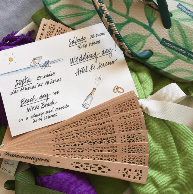 Convite de destination wedding. Com a mãe Donata. Penteado e maquiagem de noiva. Casamento Helena Bordon e Humberto Meirelles em St. Barths.
