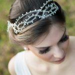 Tiara/acessório de cabelo para noivas da D.Cantidio.
