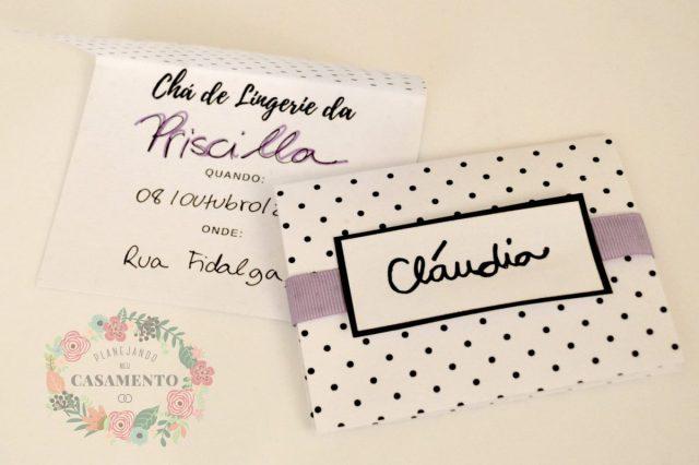 Modelo de convite de chá de lingerie em branco para baixar/download gratuito. Site: Planejando Meu Casamento.