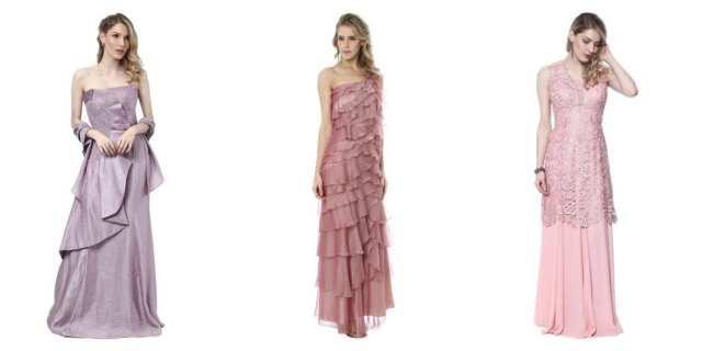 Vestidos de madrinha de casamento baratos com desconto em lilás, rosa claro e rosé.