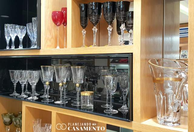 Lista de presentes de casamento: taças finas na loja de casa e decoração RS Casa. Foto: www.planejandomeucasamento.com.br