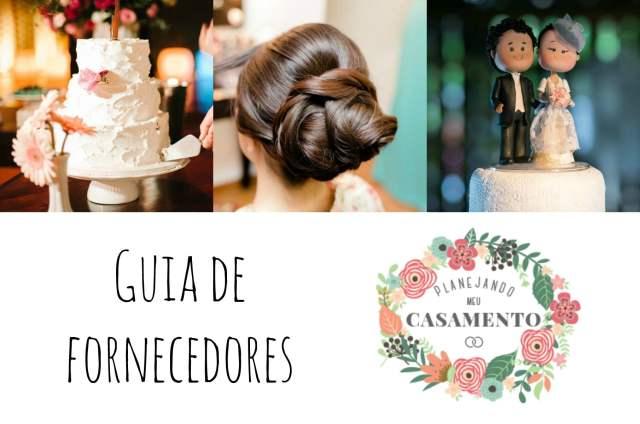 Guia de fornecedores de casamento do blog Planejando Meu Casamento.