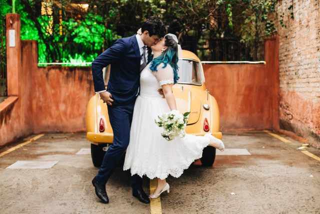 O Casamento Romântico E Retrô De Dani E Raul Planejando