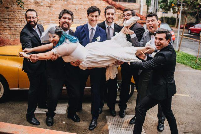 Casamento Dani e Raul: padrinhos. Foto: Canvas Ateliê.