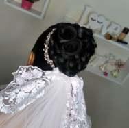 Fotos de penteados de noiva: coque. Foto: @bibihaair