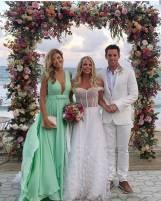 Ticiane Pinheiro no Casamento de Karina Bacchi e Amaury Nunes. Foto: @jaquecerimonial