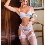 Chá de lingerie: conjunto de lingerie de noiva. Foto: Le Lingerie.