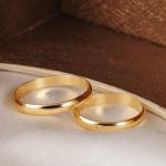 Par de alianças de casamento tradicionais. Foto: Lojas Rubi.