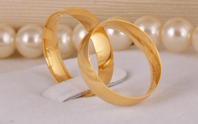 Tipos de aliança de casamento. Foto: Lojas Rubi.