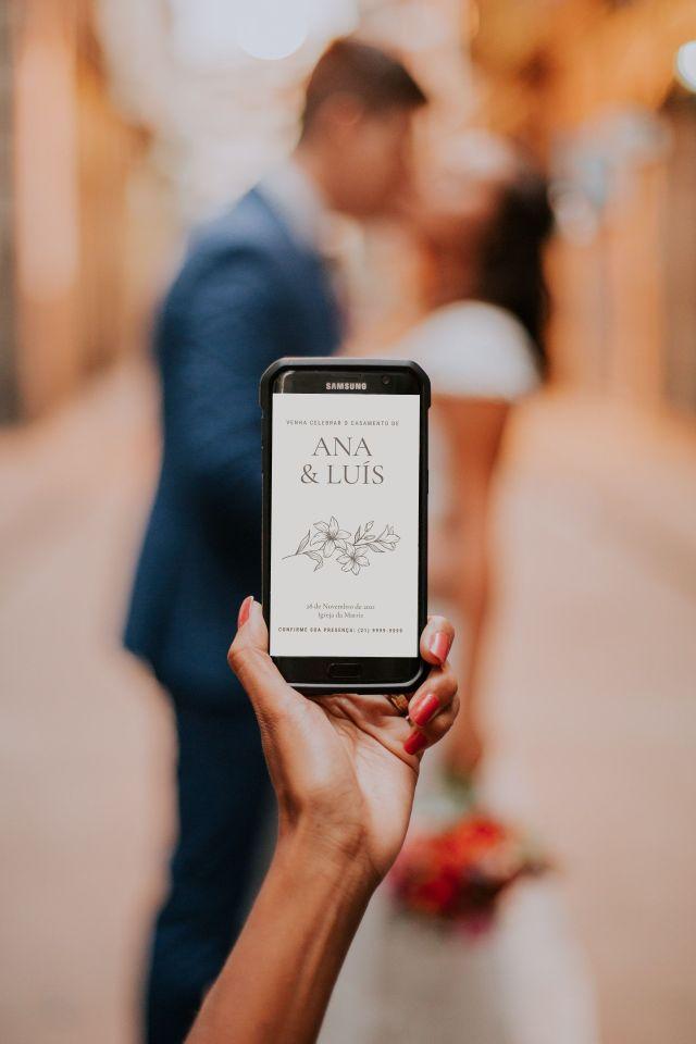 Convite de casamento virtual para WhatsApp