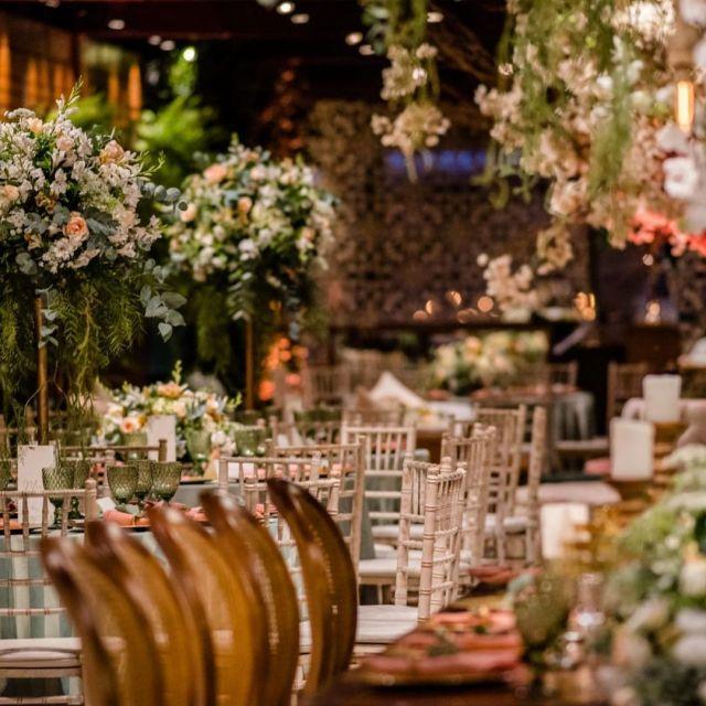 Decoração jantar - Casamento Viviane Araújo e Guilherme Militao