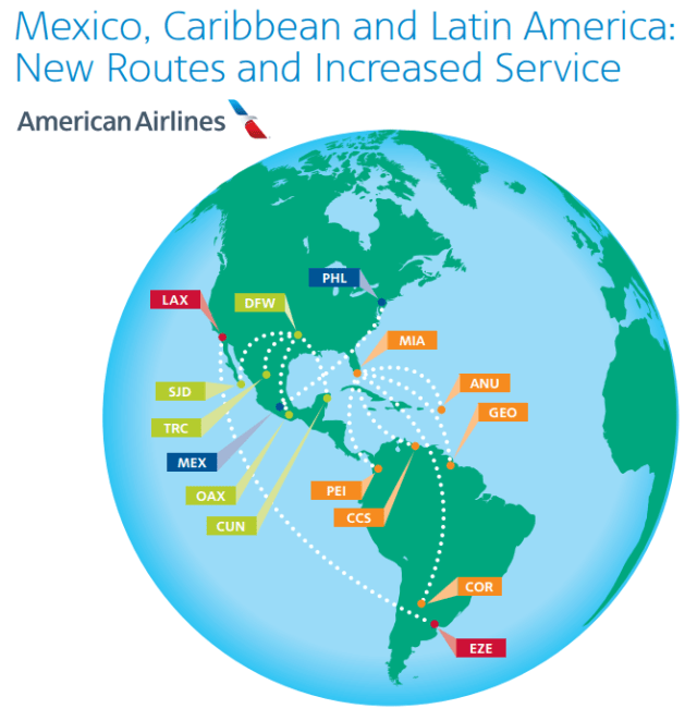 American Airlines Adding Service To Mexico And South America