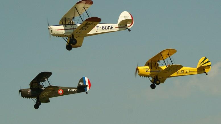 Stampe-Vertongen Formation La Ferte Alais Airshow 2014