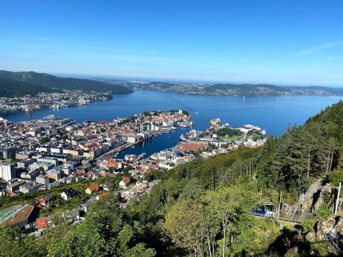 Top of Fløibanen in Bergen