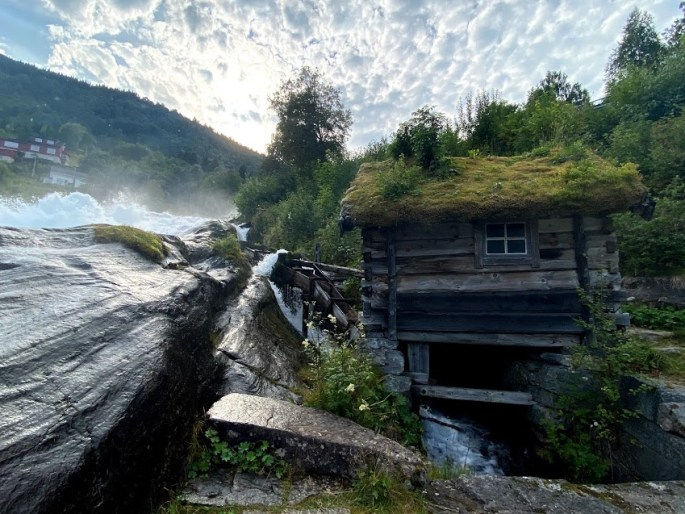 by a fjord in norway