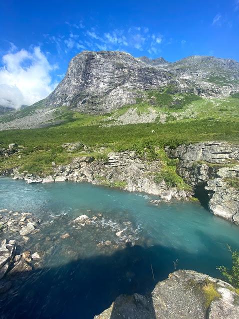 Teal river near Trollstigen