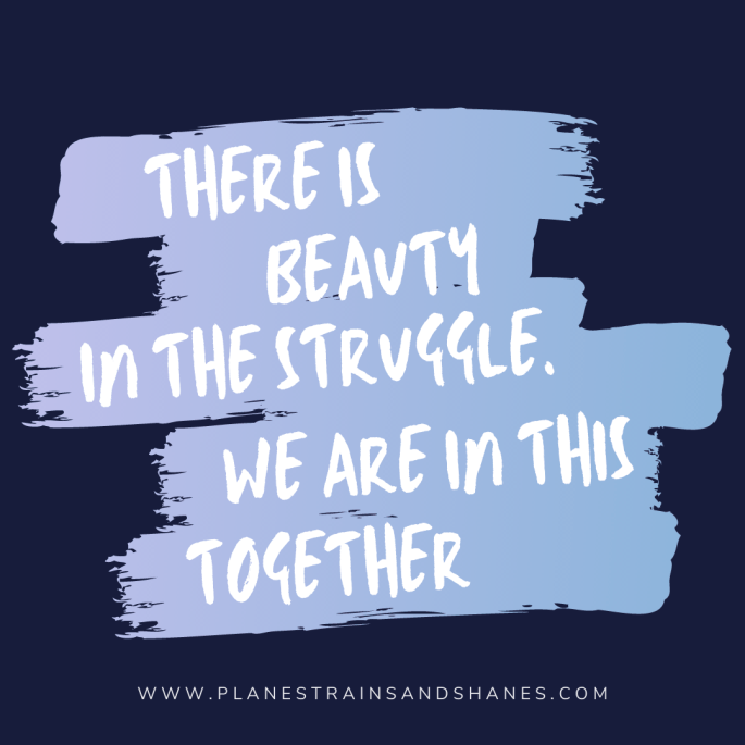 there is beauty in the struggle inspirational quote.