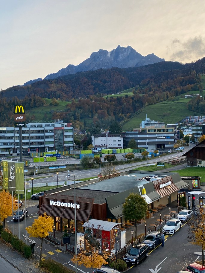 eating mcdonalds in switzerland