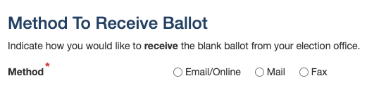 method to receive ballot