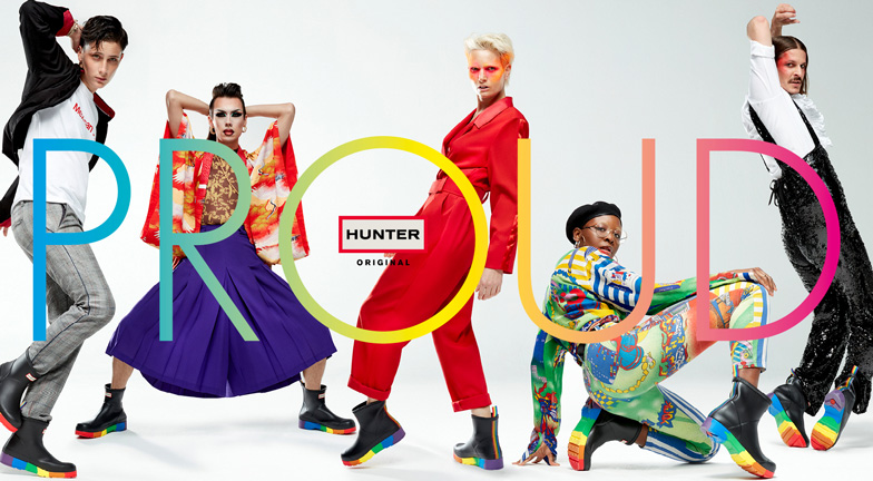 Hunter Boots releases rainbow boots in support of 5 UK LGBT+ charities