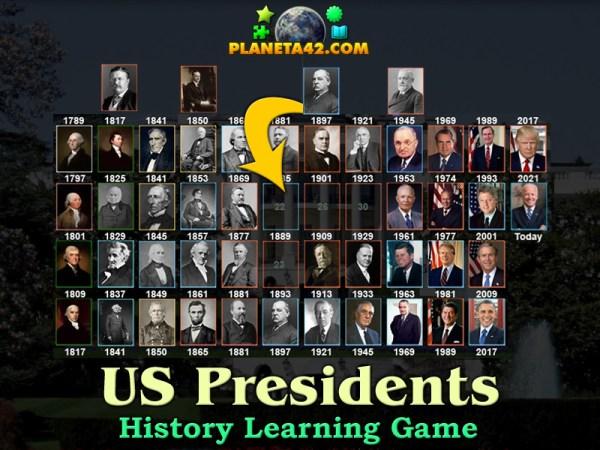Американски Президенти Пъзел | Забавна Образователна Игра