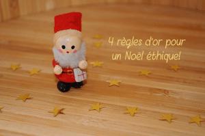 Mes 4 règles d'or pour un Noël éthique