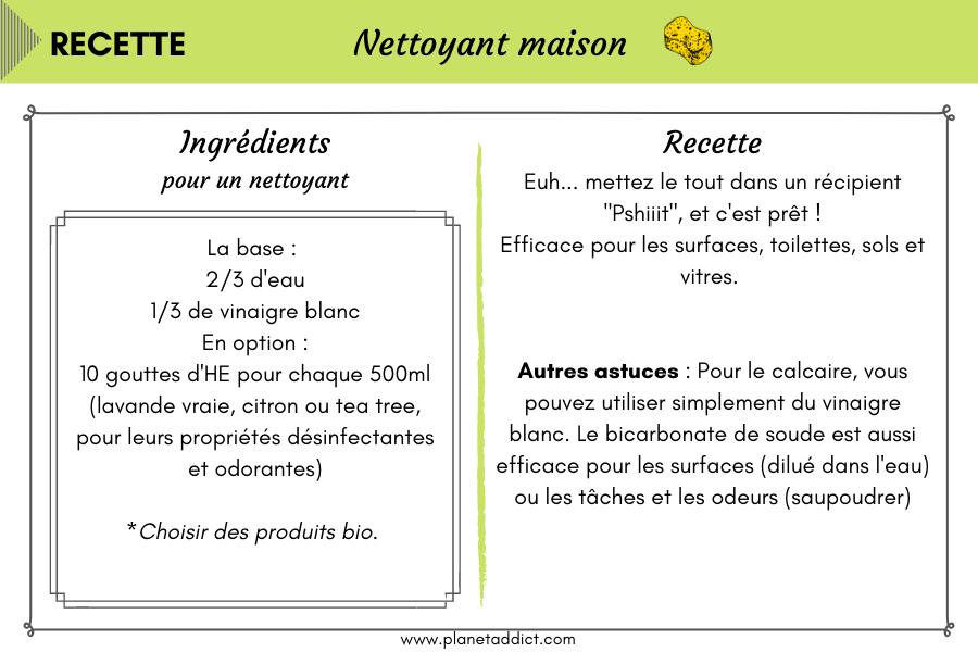 Recette-nettoyant