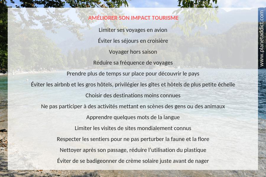 Améliorer son impact tourisme