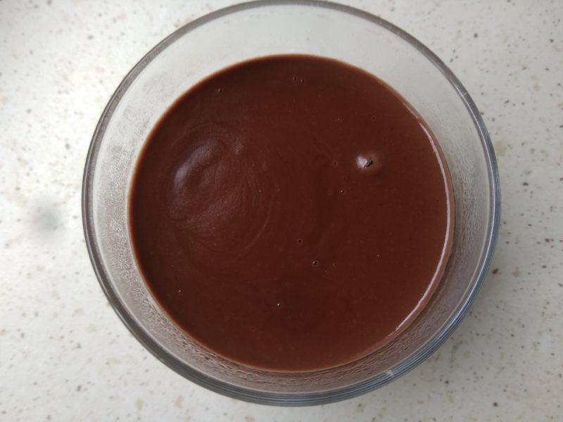 Crema de plátano y chocolate baja en fodmaps