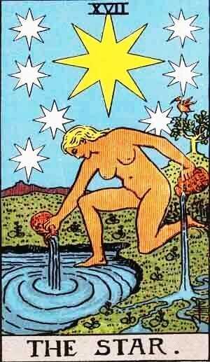 Carta do Tarot Arcano 17 A Estrela