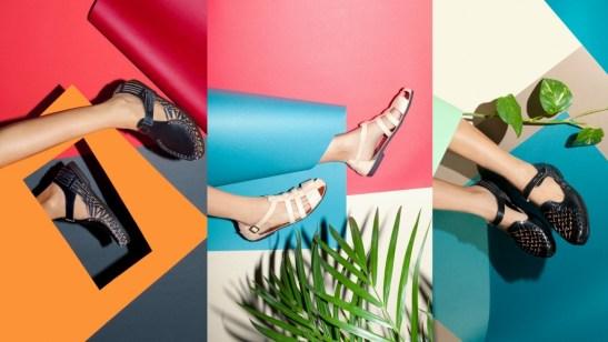 Sandalias Caboclo para mujer elaboradas con cuero natural y neumáticos reciclados.