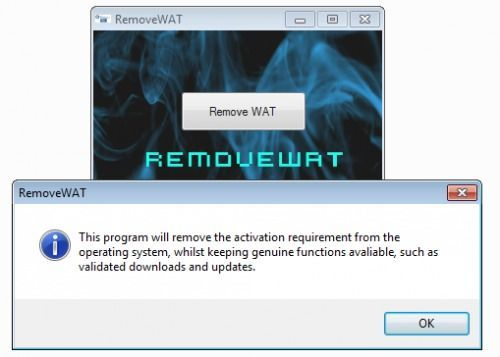 Windows 7, RemoveWAT - activación