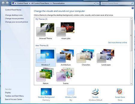 Cambiar el Theme en Windows 7