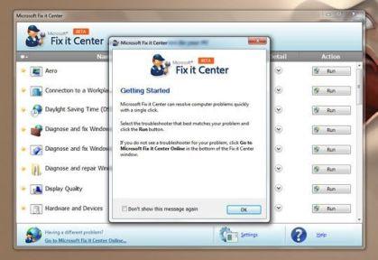 Microsoft Fix It Center