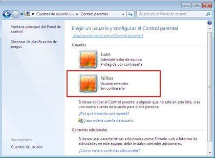 Control Parental Cuentas de usuario Cómo limitar las horas de la sesión en Windows 7