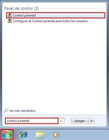 Control Parental Panel de control Cómo limitar las horas de la sesión en Windows 7