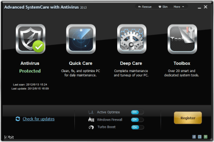 Advanced SystemCare Pro con antivirus