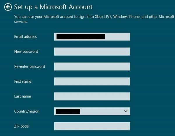 Set up a Microsoft account