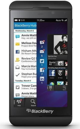 Blackberry Z10. Pantalla