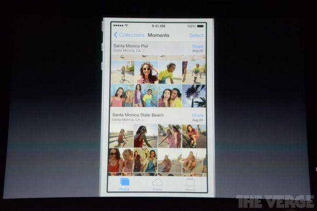 La gestión de la galería de iOS 7
