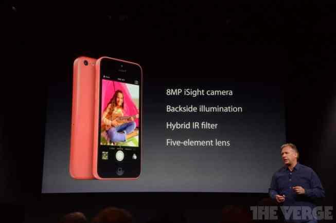 Cámara de 8 Mpx en el iPhone 5C