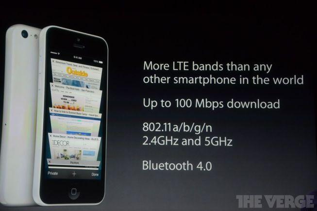 Conectividad del iPhone 5C