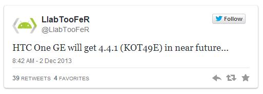 Android 4.4.1 confirmado
